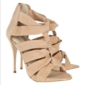 Elizabeth and James Love Knotted Suede Sandals